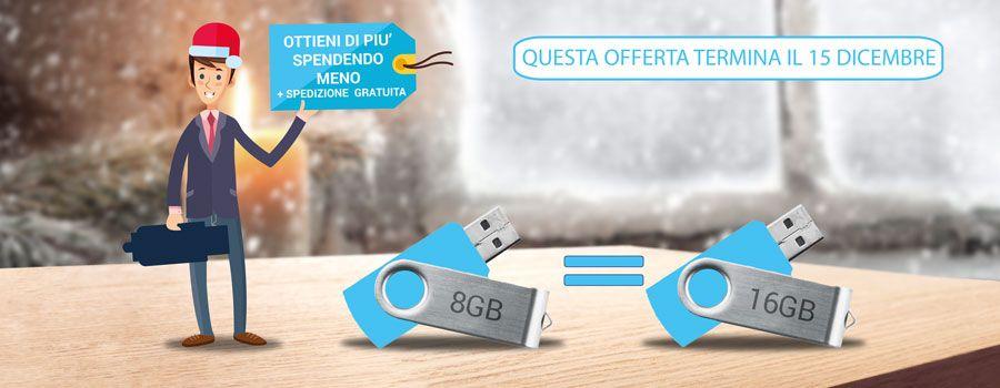 Promozione 16GB al prezzo di 8GB
