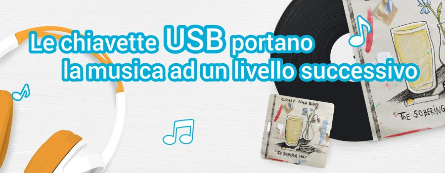 Le chiavette USB portano la musica ad un livello successivo