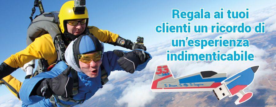 Sei uno Sky diving club? Vola con Produttore Chiavetta USB!
